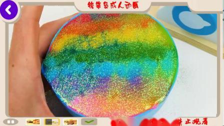学步儿童玩具学习视频学习形状颜色食物名称计数与生日蛋糕