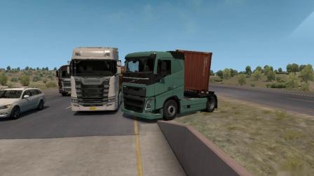 美国卡车模拟-沃尔沃FH全程高速+TEX集装箱