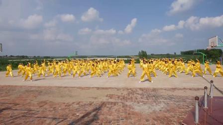 榆树市新立镇青顶中学团体武术操《英雄少年》表演视频