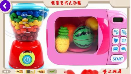 学习颜色和水果微波彩虹巧克力泥