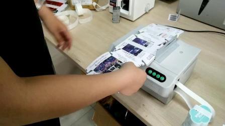 银信RQ228小型台式智能扎把机 纸带打包机