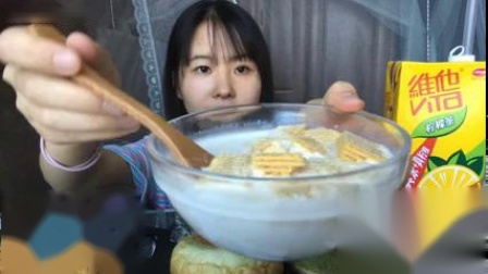 『吃播』吃甜吗! 抹茶冰皮蛋糕·抹茶甜甜圈·抹茶冰面包·一口泡芙·肉松小贝·榴莲