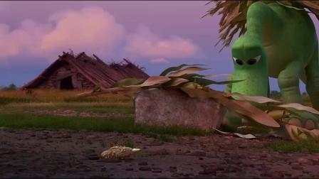 《恐龙当家》  愤怒追赶原始小孩 小恐龙意外落水