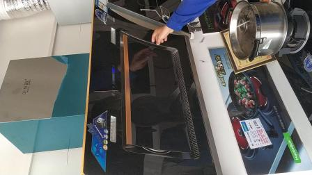 厨妃D20双电机 体感开关烟机 吸烟效果