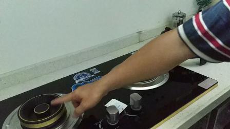 厨妃QB50嵌入式双灶 热电偶熄保 10厘加厚防爆钢化玻璃 铜火盖