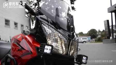 铃木V-Strom 650 ABS改装天蝎排气 秀声浪