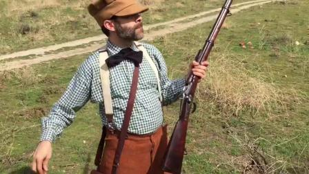 Eric with his Werndl Rifle 1867_77