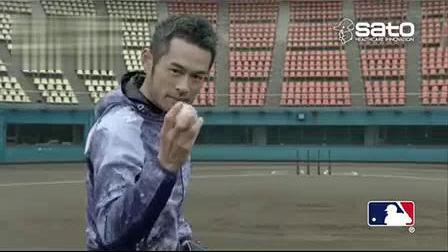我在日本棒球明星铃木一郎奇迹般的集中力广告截了一段小视频