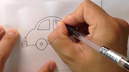金龙手绘.简笔画小汽车的画法