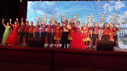沈北锡伯族歌舞团演出的《梦回沈阳》民族服装秀