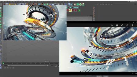CG影视-C4D实战项目N3栏目包装分镜制作上集