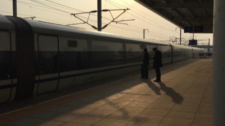 高铁动车组进站镜头