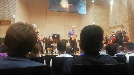 Vincent David文森大卫《Creation》协奏曲首演2018萨格勒布世界萨克斯大会现场