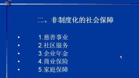 社会保障学 全32讲 赵志平05 西安交大