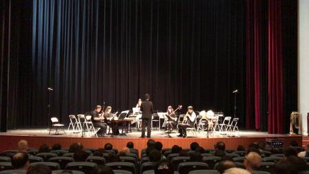 與幾位國樂界的大師一起演奏,二胡Fan  Walter、三弦姚碧青、古箏Chen Hsinghui、鋼片琴吳函砡,特別感謝王子豪老師指揮這首鍾耀光老師的「聽泉」