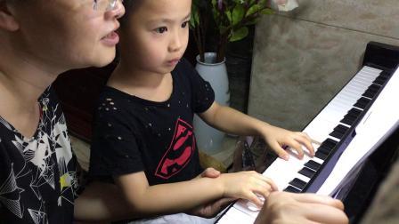 常熟灏哥2017年7月26日姑妈指导练琴