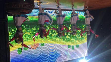 哈萨尔蒙古族王爷宴上的发源于科尔沁草原上的安代舞,哈萨尔科尔沁饮食文化创新工作室制