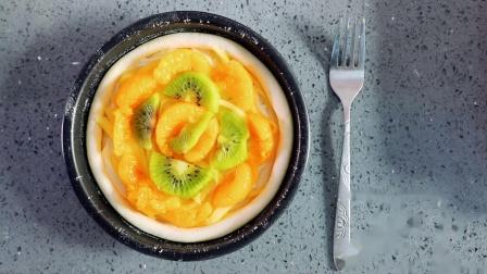 猴子桃与橘子融合的美味 自制水果披萨