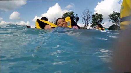 四川绵阳:玩嗨了 不去三亚也能玩蓝色海 不用到海边也能冲浪!