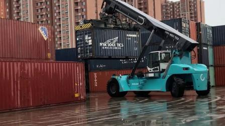 科尼正面吊在北京外运陆运有限公司现场演示——快、准、稳!