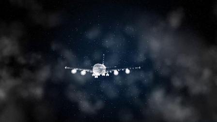 科技粒子汽车飞机变换LOGO演绎模板