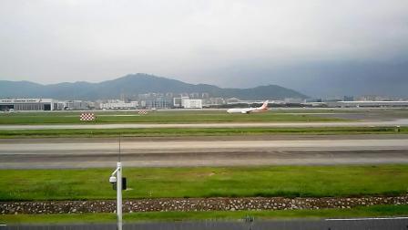 深圳机场实拍的巨无霸A380飞机起飞的震撼过程