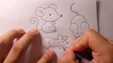 金龙手绘.简笔画合集-12种小老鼠的画法