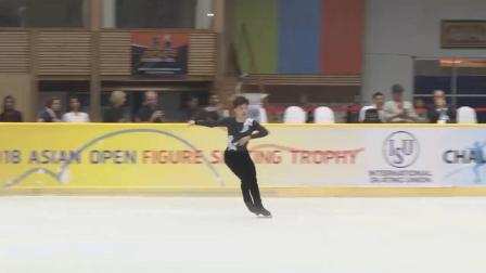 Chih-I TSAO 曹志禕 Asian Open Figure Skating Trophy 2018 Men - Free Skating