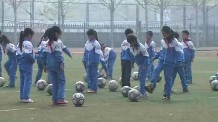 《脚背踢球》优质课(冀教版二年级体育,赵航)