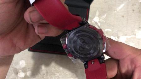 MTG-B1000防水运动男士手表开箱 电波太阳能蓝牙表。