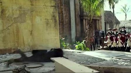 我在加勒比海盗5:死无对证截了一段小视频