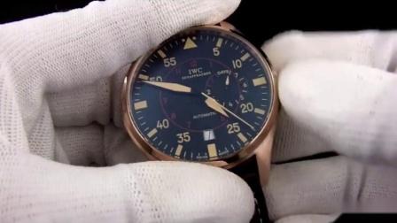 万国飞行员系列机械动能皮带男士腕表