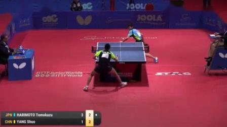 我在2016国际乒联世青赛 男单半决赛 张本智和 vs 杨硕截了一段小视频