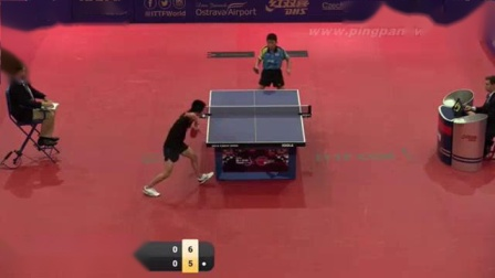 我在2016捷克公开赛 男单(U21) 小组赛 張本智和vs緒方遼太郎 乒乓球比赛视频 完整版截了一段小视频