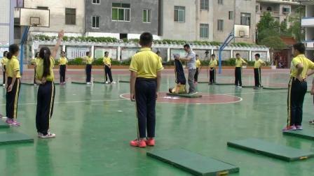 《肩肘倒立》優質課(科學版五年級體育,王國華)