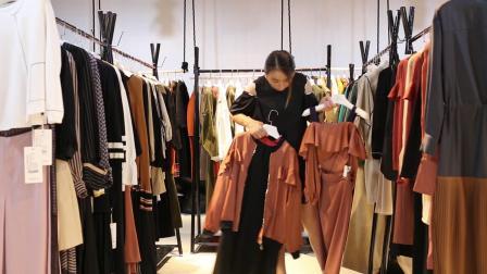 品牌折扣女装 欧韩品牌女装 《绽然》新款品牌秋装  18042038868