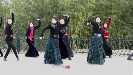 紫竹院广场舞---《鸿雁》(带歌词字幕)