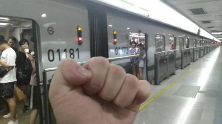上海地铁2号线215号车东昌路站上行出站(广兰路站方向)