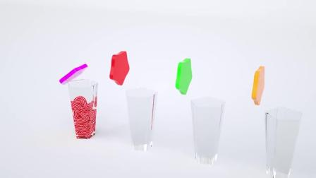 亲子早教益智动画,用模具和奶油制作好看又好吃的冰棒学习英语!