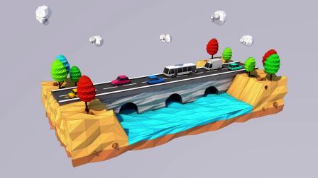 Cinema 4D Tutorial - Low Poly Road & Bridges 3D Modeling