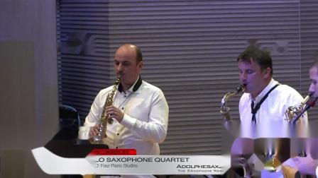Four Piano Studies by Boris Papandopulo -  Papandopulo Saxohone Quartet