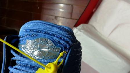 aj32北卡蓝橡胶底高帮开箱(大V篮球鞋测评)