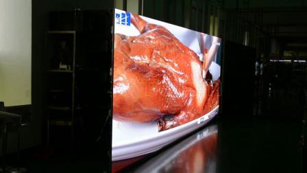 P3.91舞台租赁LED显示屏Vetris 切鸭美食效果播放—威特姆光电