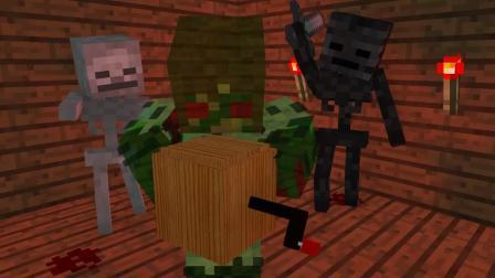 我的世界动画-闹鬼的音乐盒-CJ Gamer10