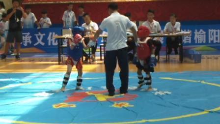 国家级非物质文化遗产保护项目——第四届全国青少年红拳大赛暨红拳跑拳打手擂台,儿童A组比赛现场。
