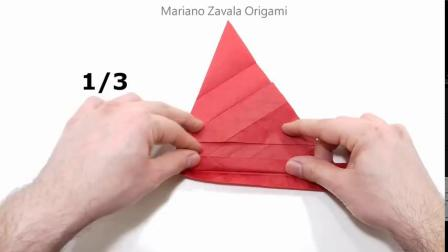 P1折纸五角形玫瑰教程ORIGAMI PENTAGON ROSE TUTORIAL 《Naomiki Sato》 PART 1