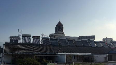 黄山邮电大酒店钟楼7:00报时