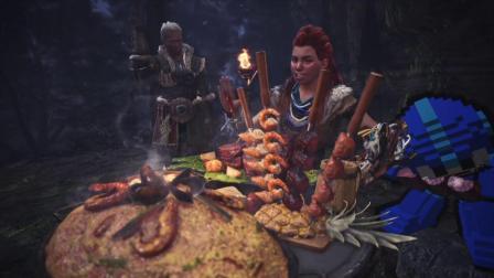 [怪物猎人世界]地平线黎明时分女主Aloy 降落到新大陆! 让我们一起狩猎吧!