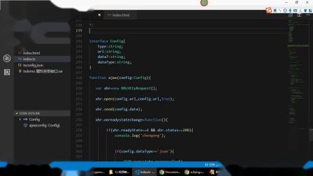 Typescript教程-009-Typescript中的属性类型接口  ts封装ajax