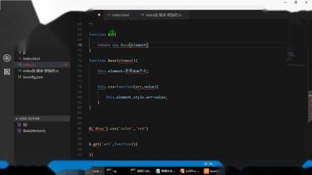 Typescript教程-007-Typescript中的类  类中的静态属性 静态方法 抽象类 多态(下)